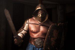 Gladiador del tipo Samnita, por Alma Cubrae. Foto: Javi Aguilar @ 2013