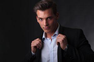 Retrato del modelo Sergio Valero, para su book
