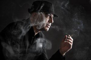 Retrato de Ferran Terraza fumando, por Javi Aguilar