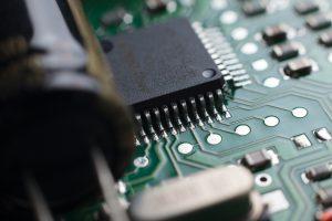 Circuito electrónico, fotografía de producto