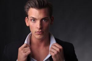 Retrato para el book del modelo Sergio Valero, por Javi Aguilar.